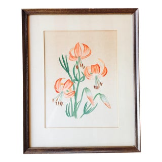 Original Floral Still Life Painting in Frame