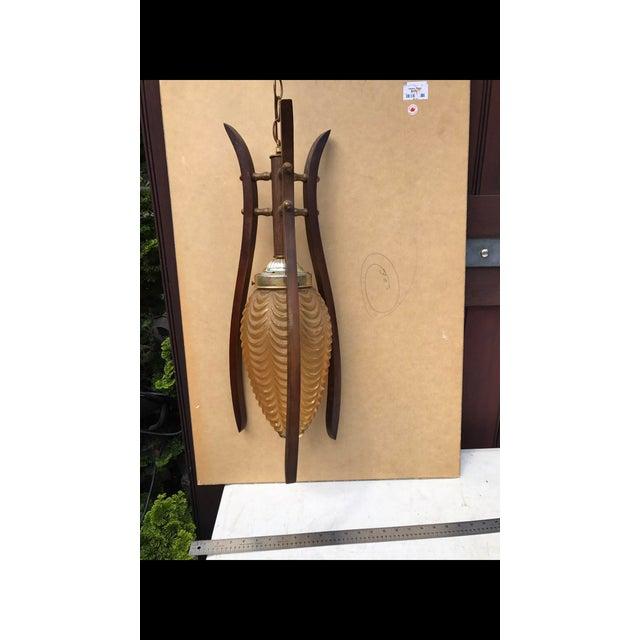 Mid Century Swag Lamp: Mid-Century Modern Hanging Swag Lamp