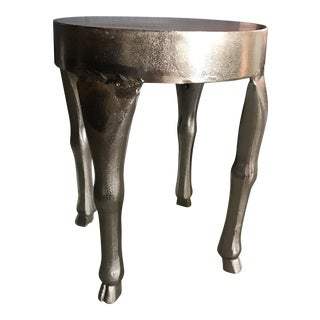 Animal Hoof Silver Side Table