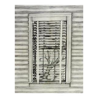 """1991 Preot Buxton """"Environment"""" Pencil Drawing"""