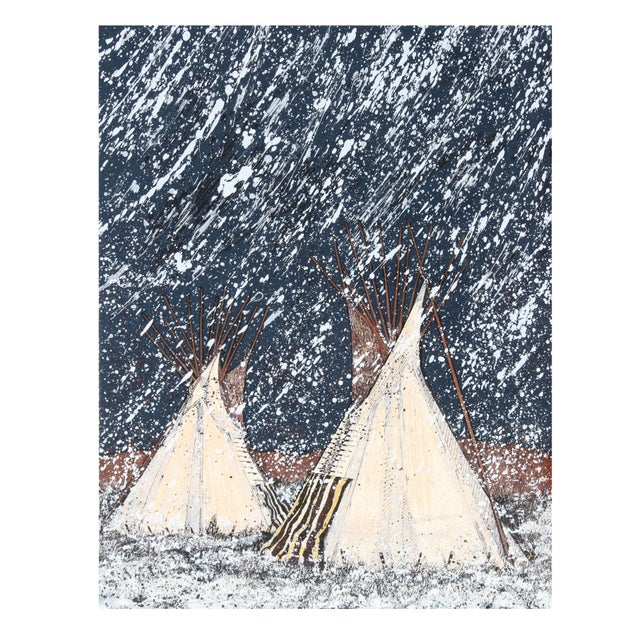 Kevin Red Star - First Snow Serigraph - Image 1 of 2