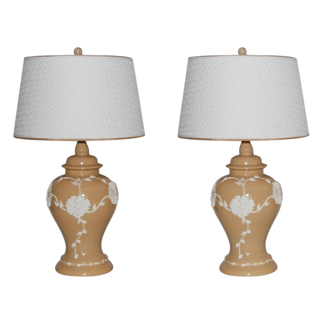 Dorothy Draper Style Lamps - Pair - Image 1 of 6