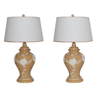 Dorothy Draper Style Lamps - Pair