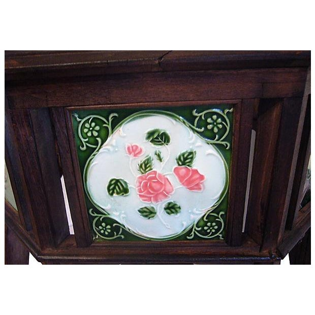 19th-Century Indian Tile Side Table - Image 4 of 4