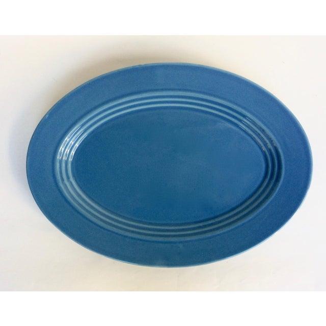 Blue Oval Serving Platter - Image 2 of 5