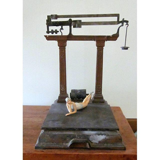 Antique Industrial Brass Scale Steampunk Decor - Image 9 of 9