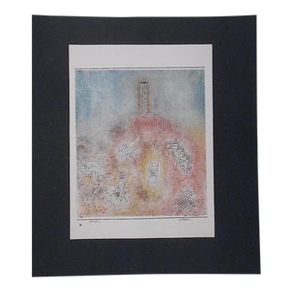 Vintage Mid 20th Century Abstract Lithograph-Paul Klee