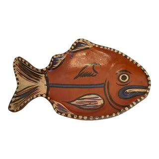 Small Tlaquepaque Mexican Pottery Fish Bowl Dish