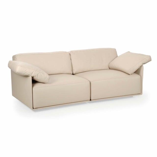 """Lievore Altherr Molina for Poltrona Frau """"Cassiopea"""" Leather Sofa - Image 3 of 11"""