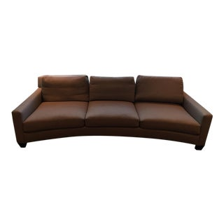 Curved 3 Seat Upholstered Sofa
