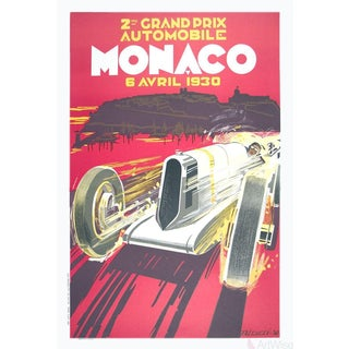 "Robert Falcucci ""Monaco Grand Prix 1930"" 1985 Lithograph"