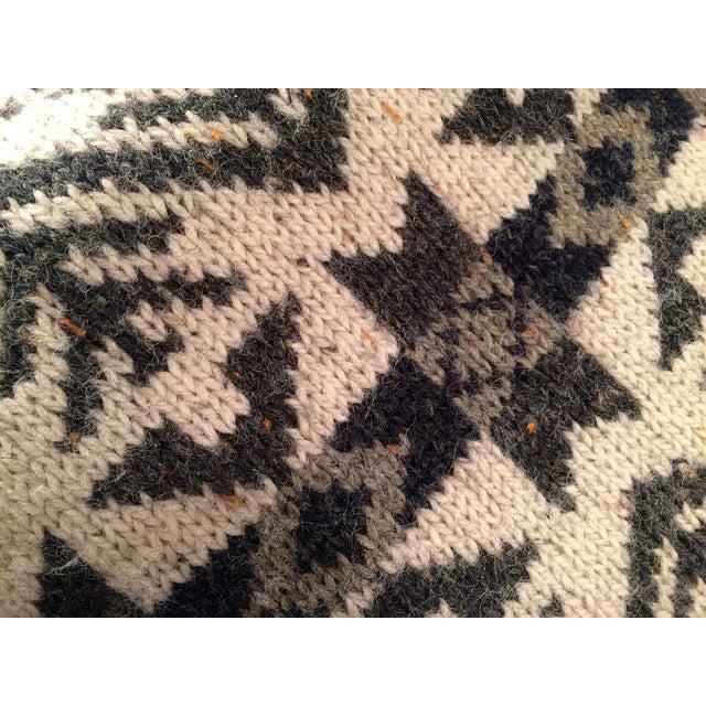 Vintage Blanket Pillows - Pair - Image 5 of 5