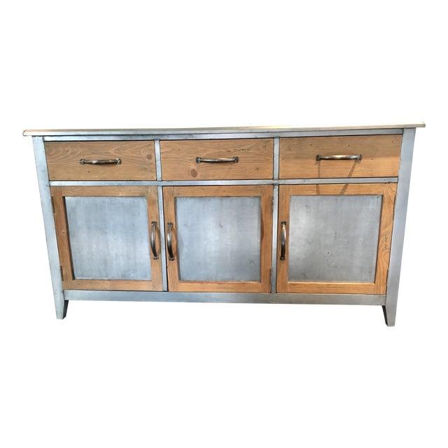 arhaus wood metal buffet chairish. Black Bedroom Furniture Sets. Home Design Ideas