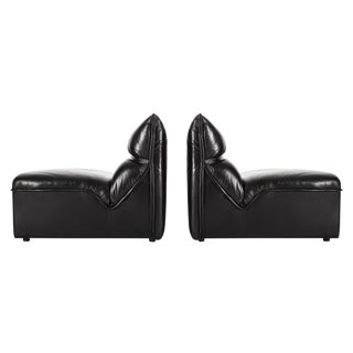 Pair of Mariani Lounge Chairs with Ottoman