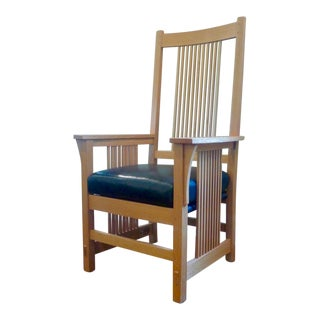 Stickley Mission Oak Spindle Arm Chair