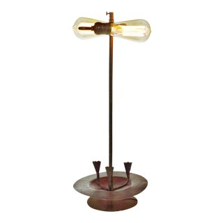 Brass & Metal Candle Holder & Table Lamp