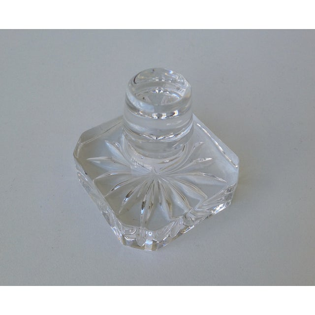 Glass Square Cut Beveled Decanter Top - Image 8 of 8