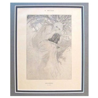 1899 Original Mucha Cocorico Illustration Dec.