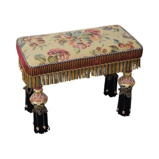 Porcelain & Upholstered Bench