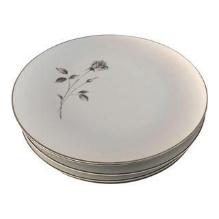 "Vintage China ""Shadow Rose"" Dinner Plates - Set of 6"