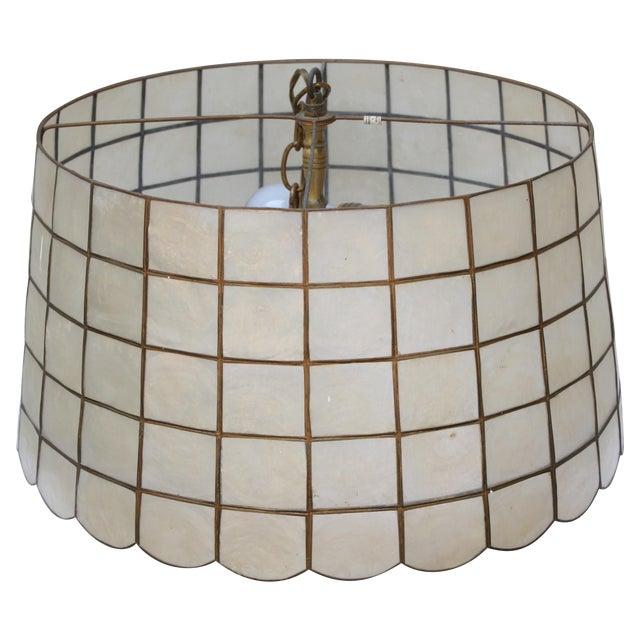 1970s Capiz Shell Pendant Light - Image 1 of 4