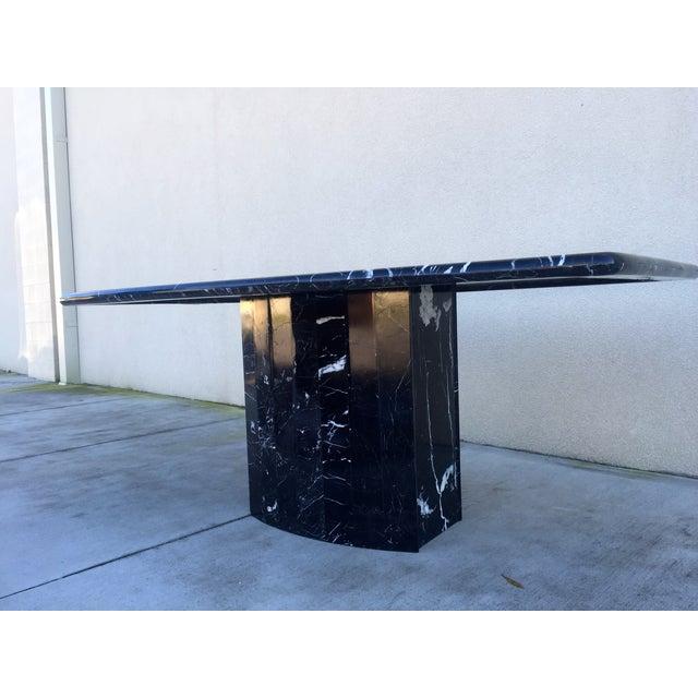 Black Modern Italian Marble Dining Table - Image 7 of 10