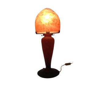 Antique French Art Nouveau Glass Table Lamp