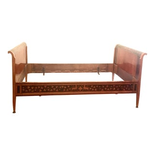 19th C. Walnut Inlaid Daybed