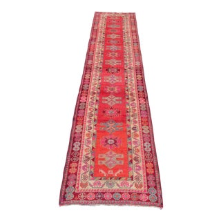 Vintage East Anatolian Hand Knotted Wool Rug - 2'9″x 12'2″