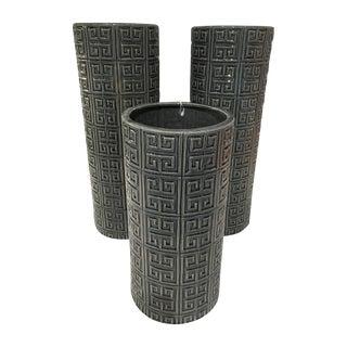 Graphic Cylinder Vases - Set of 3