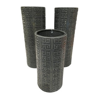 Graphic Cylinder Vases - Set of 3