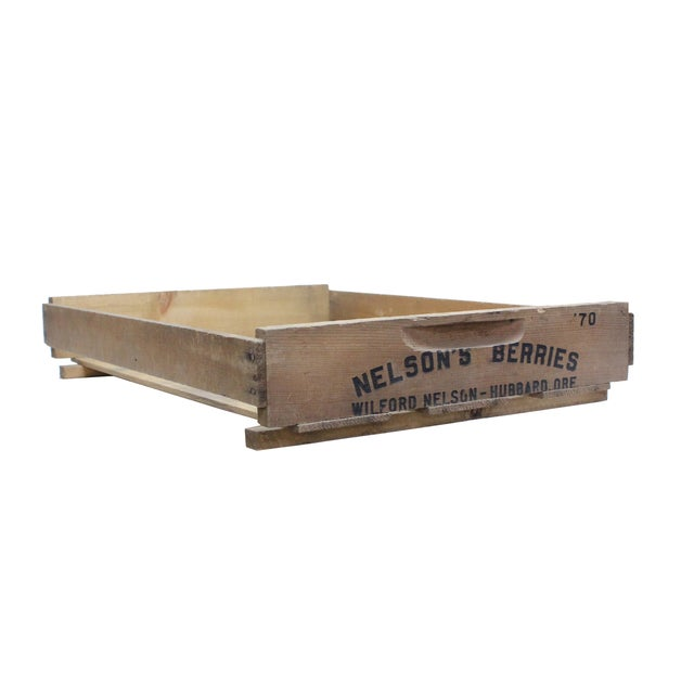 Vintage Wooden Berry Crates - Set of 3 - Image 3 of 4