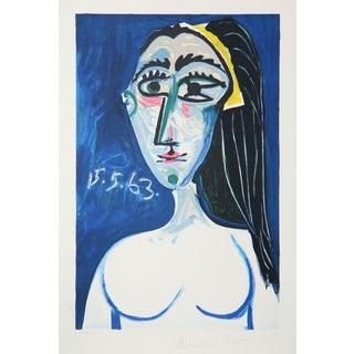Pablo Picasso 'Buste De Femme Nue Face' Lithograph