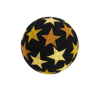 Temari Ball Handmade Ornament - Golden Stars