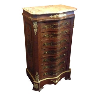 Mahogany Seven Drawer Lingerie Chest Ormolu