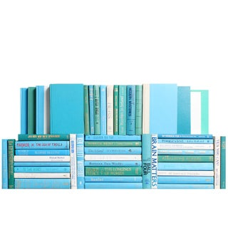 Modern Ocean Book Wall - Set of 50