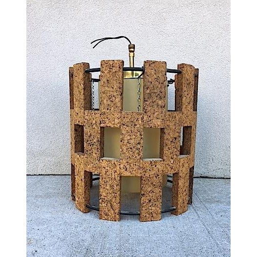 Mid-Century Cork Pendant Light - Image 2 of 6
