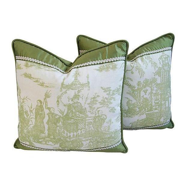 Designer Chris Stone Chinoiserie Pillows - Pair - Image 1 of 8