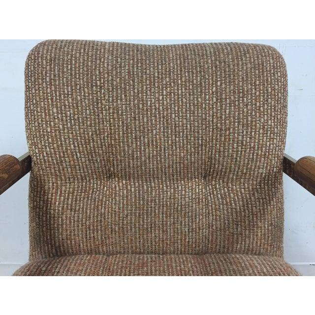 Milo Baughman Style Brass Office Desk Chair - Image 8 of 11