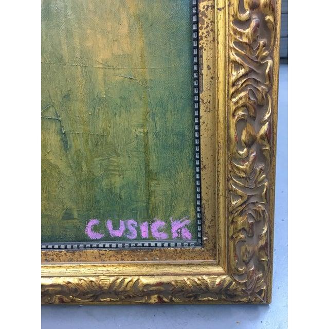 "Cusick ""At the Wedding"" Original Painting - Image 4 of 5"