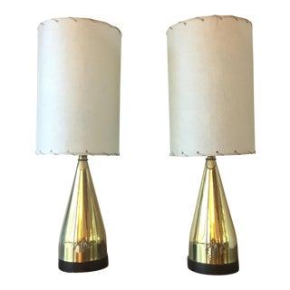 Mi-Century Brass Danish Lamps - A Pair