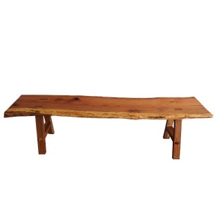 Live Edge Oak Bench