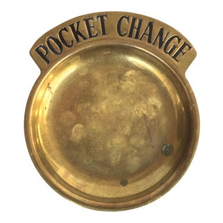 Vintage Brass Pocket Change Tray