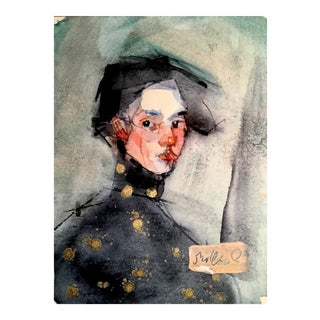 "Original ""Golden Spots"" Portrait Watercolor Painting"