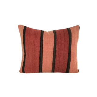 Vintage Striped Flatweave Moroccan Pillow