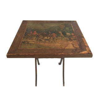 Vintage Riding Scene Card Table