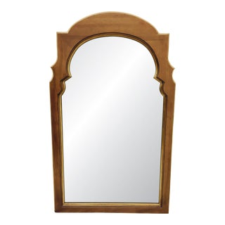 Hollywood Regency Gold Trim Wooden Mirror