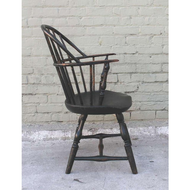 18th Century Original Green Extended-Arm Windsor Chair - Image 7 of 10
