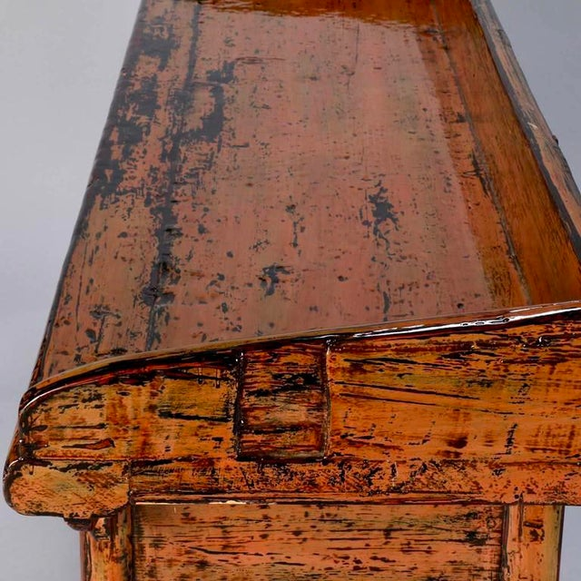 Chinese Painted and Lacquered Three-Drawer Console Table - Image 10 of 11