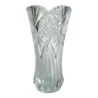 Vintage Pressed Crystal Vase
